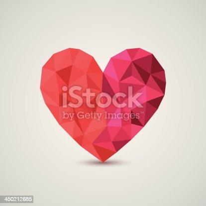 Origami heart. Vector Illustration.