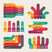 Origami infographic. Workflow layout diagram, number options, web financial reports. Infographic business vector concept. Infographic and infochart, workflow plan and strategy illustration