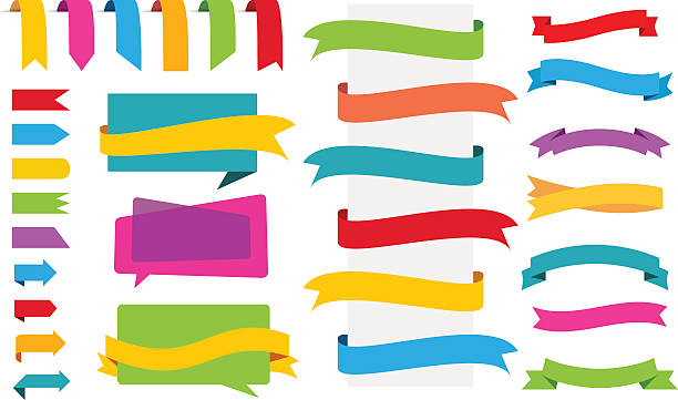 Origami Labels Banners Stickers – Vektorgrafik