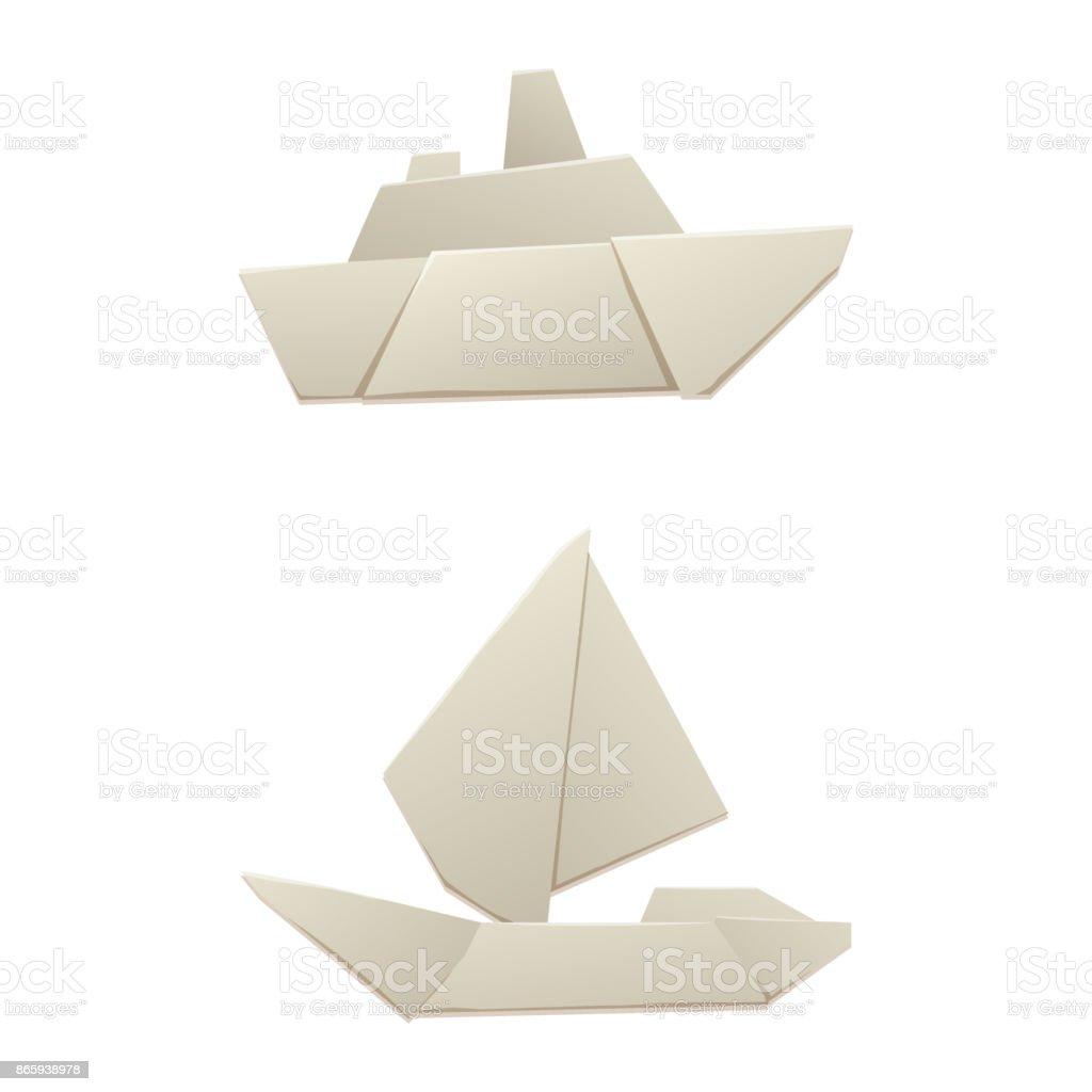 Origami Papier Logistique Bateau Transport Concept Voyage Plat Papier Feuille Transport Liberte Vector Illustration Originale Vecteurs Libres De Droits Et Plus D Images Vectorielles De Abstrait Istock