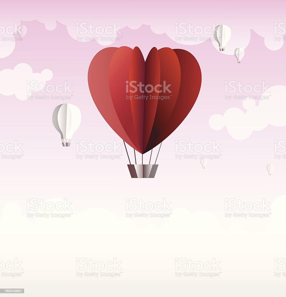Origami made hot air balloon in a heart shape stock vector art origami made hot air balloon in a heart shape royalty free stock vector art jeuxipadfo Choice Image