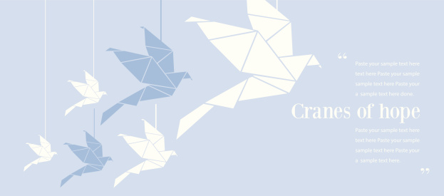 Origami of cranes and how they represent hope