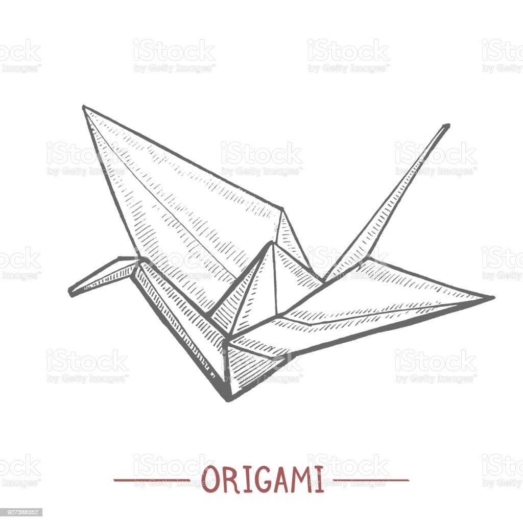 papier origami grue style dessin la main cliparts vectoriels et plus d 39 images de art. Black Bedroom Furniture Sets. Home Design Ideas