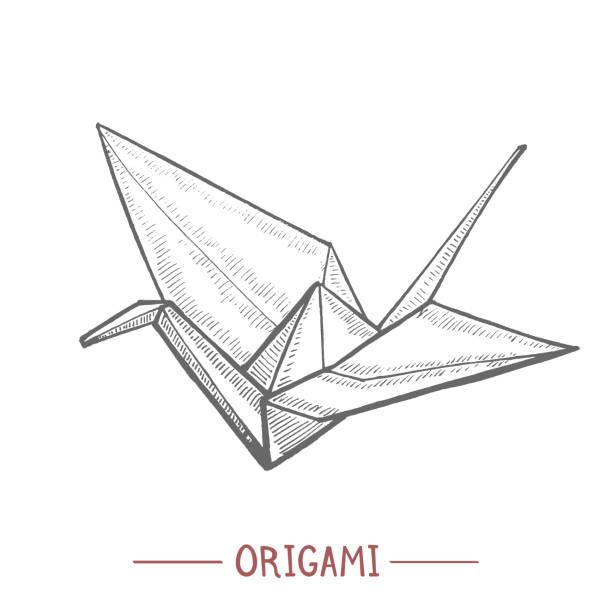 手拉式折紙紙起重機 - hiroshima 幅插畫檔、美工圖案、卡通及圖標