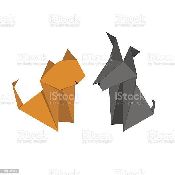 Origami paper dog and cat set vector vector id638043668?b=1&k=6&m=638043668&s=612x612&h=kmo ipzocq6e7nnwub2daqggk7t93wmjjwokthw9bsc=