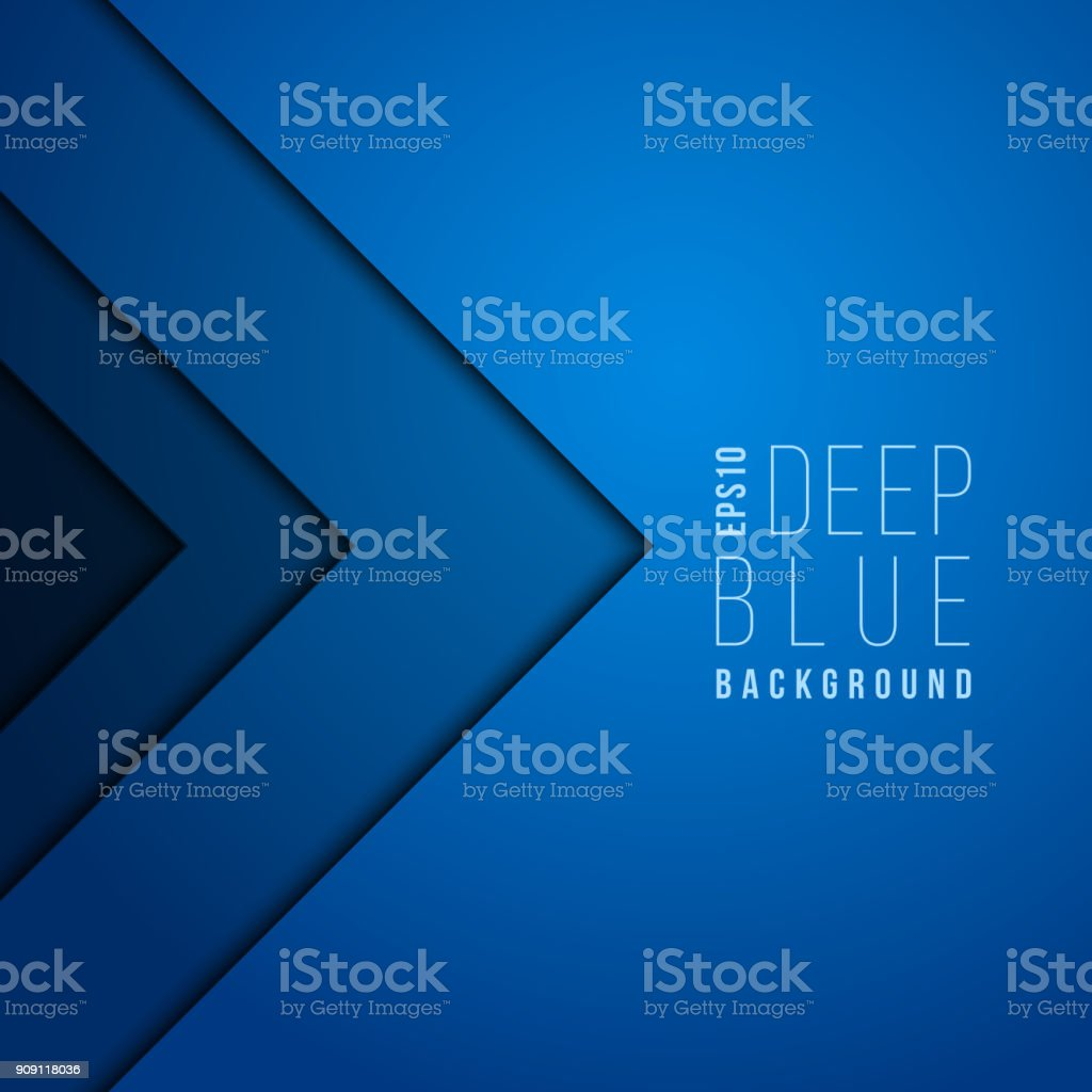 Origami paper modern minimal art vector blue background. Contemporary futuristic wallpaper