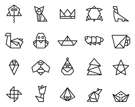 Origami papercraft.