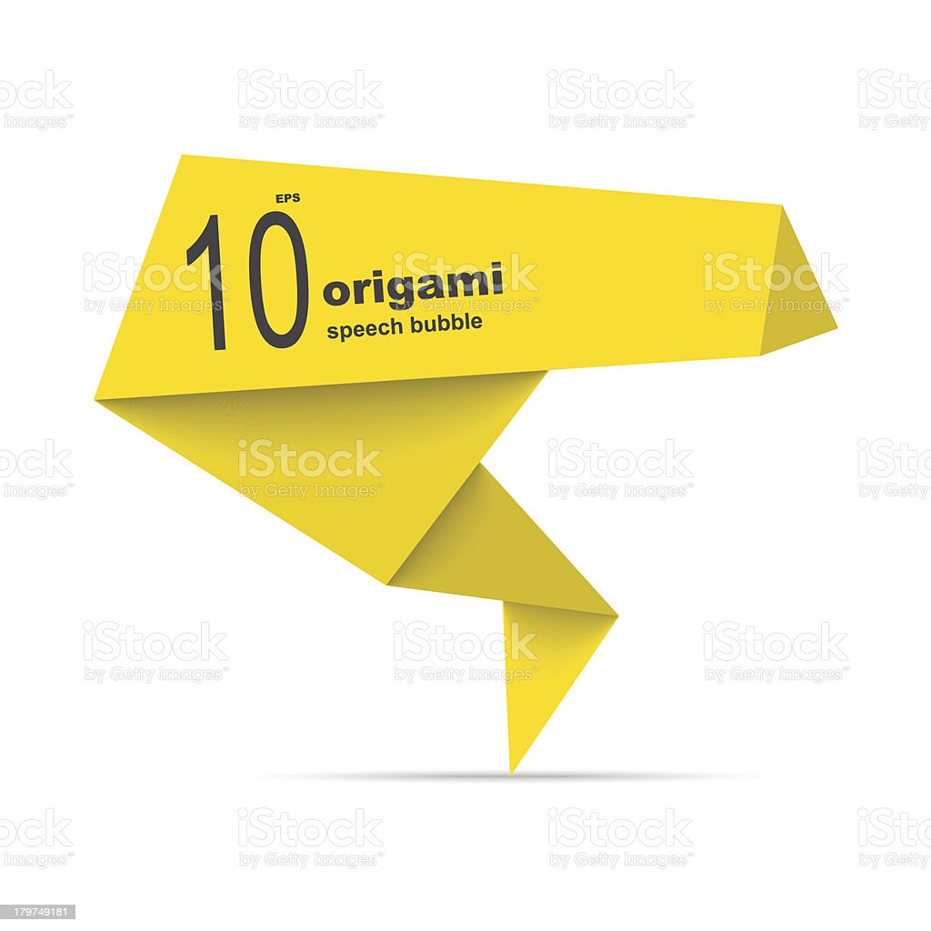 Origami price tag royalty-free stock vector art
