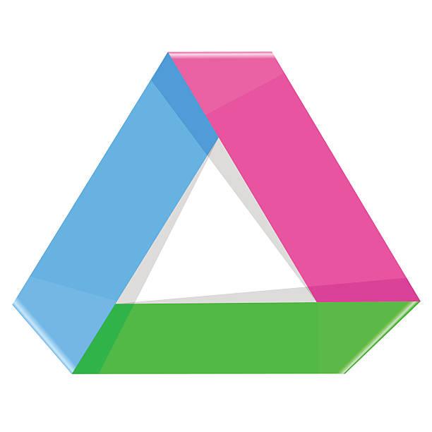 stockillustraties, clipart, cartoons en iconen met origami process cycle design element three steps - triangel