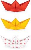 Origami ships