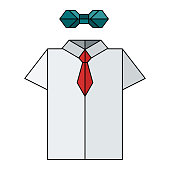 origami shirt bow tie