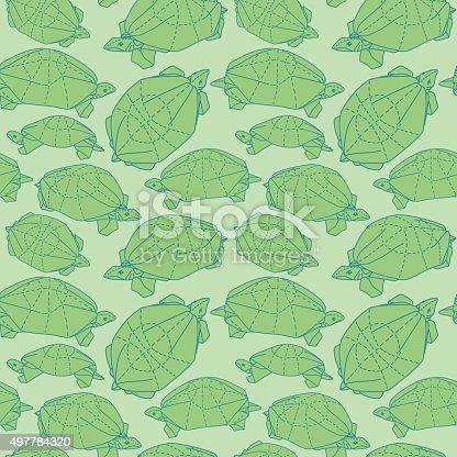 Origami Green Turtle (Jang Yonk Ik) Diagrams | 416x416