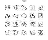 Origami Well-crafted Pixel Perfect Vector Thin Line Icons 30 2x Grid for Web Graphics and Apps. Simple Minimal Pictogram