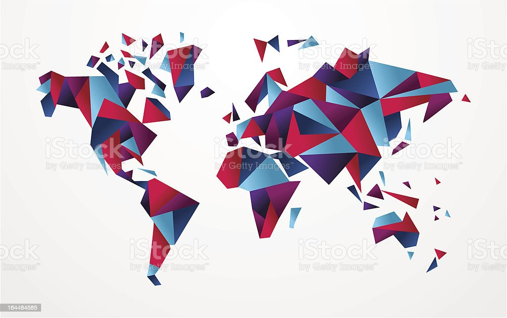 Origami world map stock vector art more images of abstract origami world map royalty free origami world map stock vector art amp more images gumiabroncs Gallery