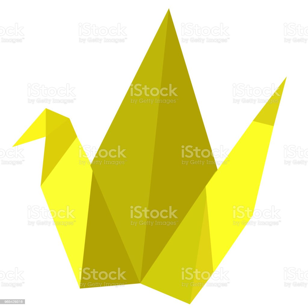 Origami, Yellow Bird royalty-free origami yellow bird stock vector art & more images of abstract