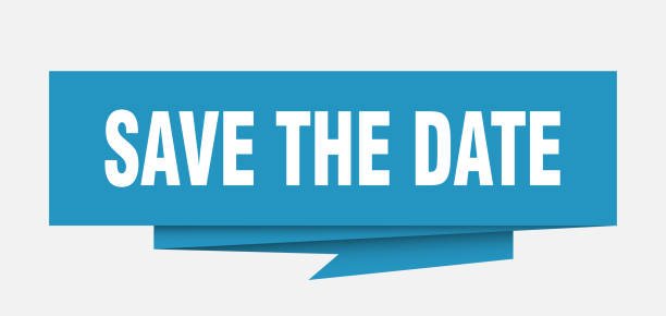 origamisignblue - save the date stock-grafiken, -clipart, -cartoons und -symbole