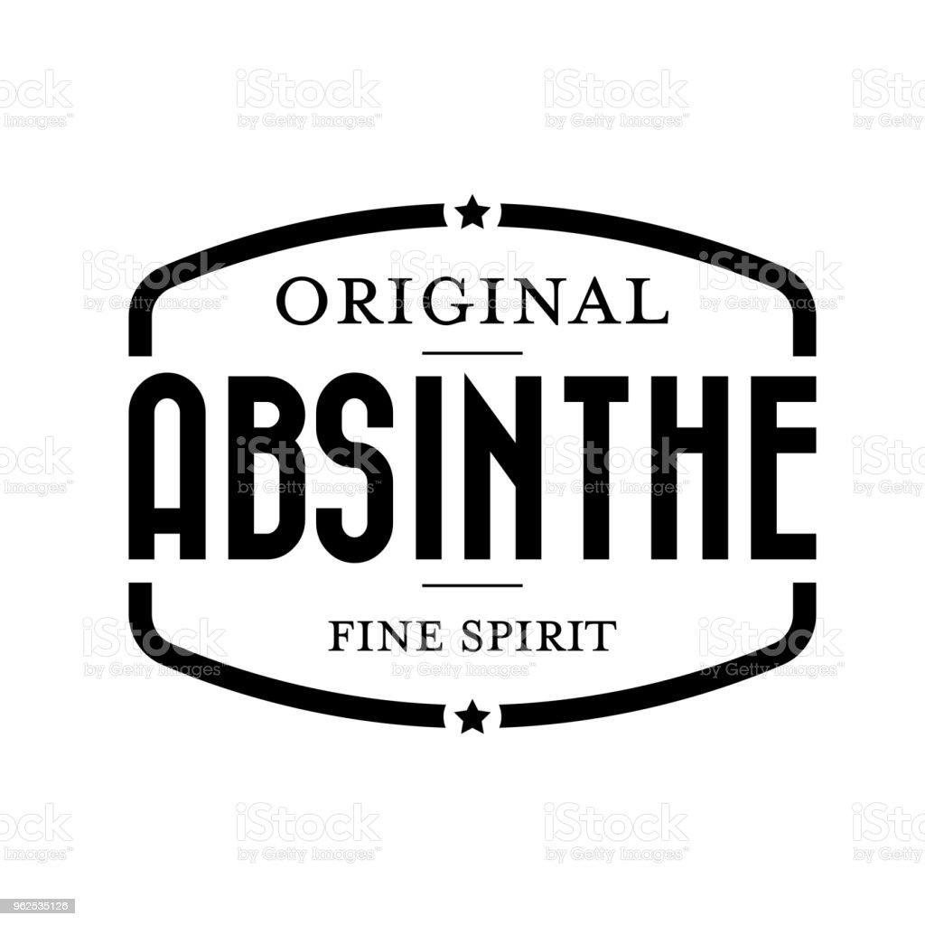 Original absinthe vintage stamp - Royalty-free Banner - Sign stock vector