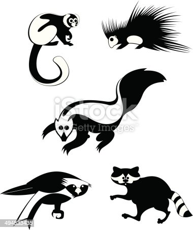 original art animal silhouettes