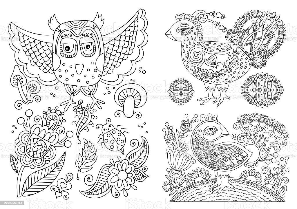 Ilustración de Texto Original En En Blanco Y Negro De Dibujo Página ...