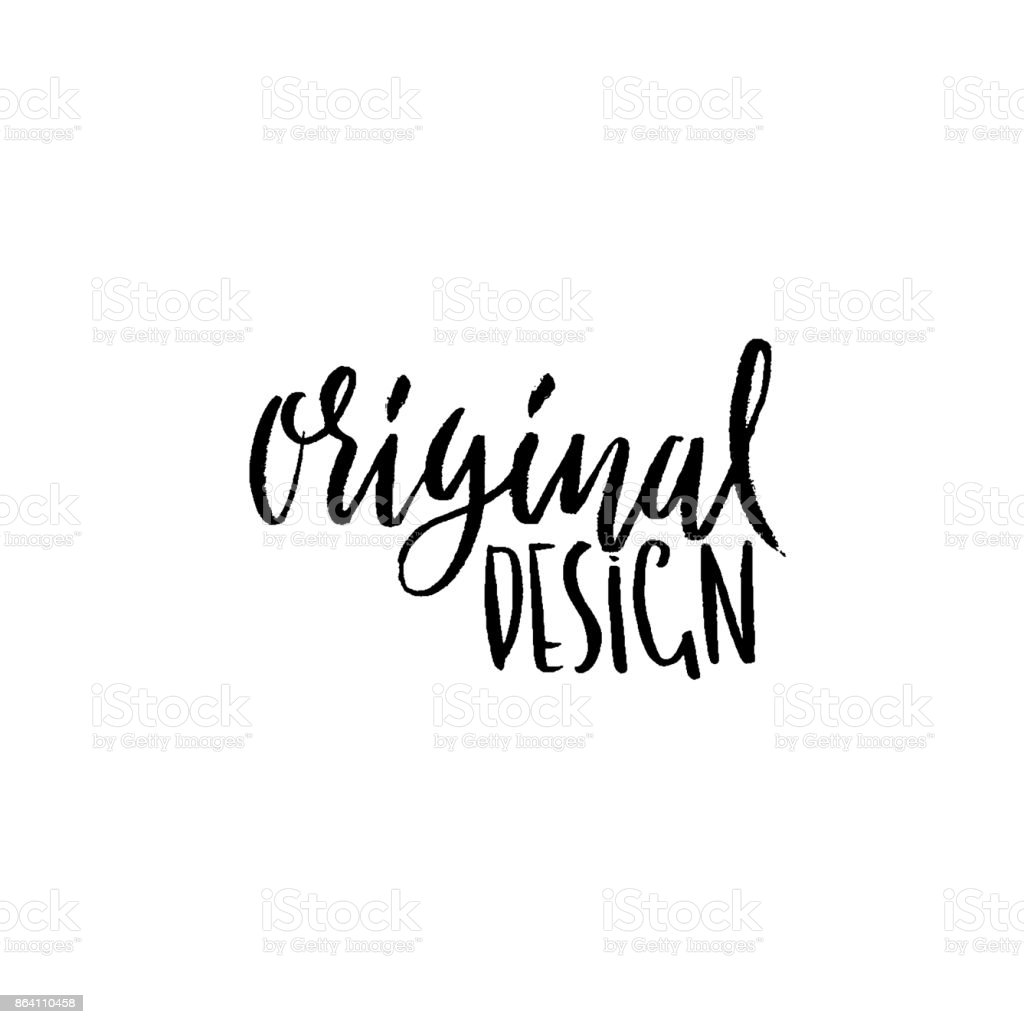 Original design. Ink handwritten lettering. Modern dry brush calligraphy. Typography poster design. Vector illustration. royalty-free original design ink handwritten lettering modern dry brush calligraphy typography poster design vector illustration stock vector art & more images of abstract
