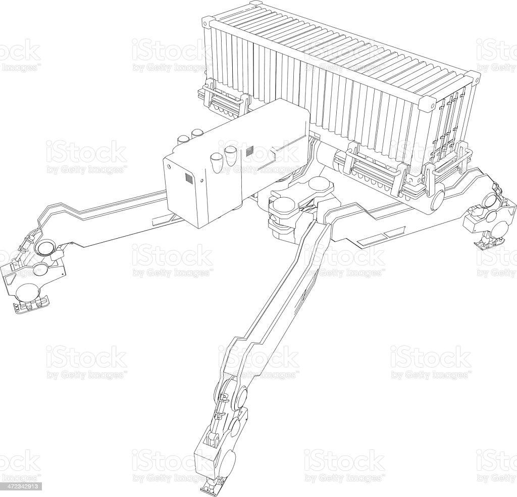 Original design robot[Outline illustration] royalty-free original design robotoutline illustration stock vector art & more images of amusement arcade