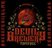 Original devil brewery typeface.
