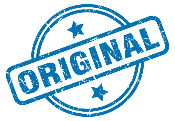 original grunge stamp original round vintage grunge stamp blue silhouettes stock illustrations
