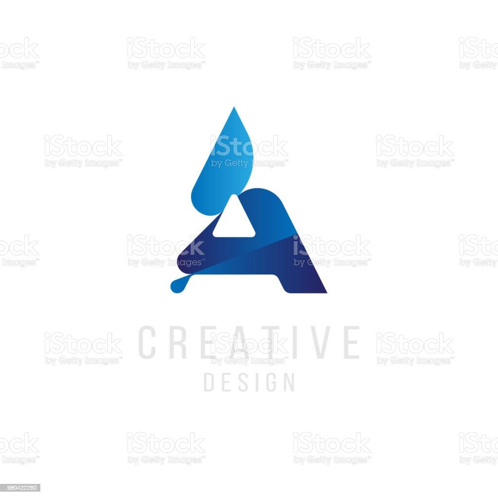Ursprünglichen Buchstaben A In Blauer Farbe ...