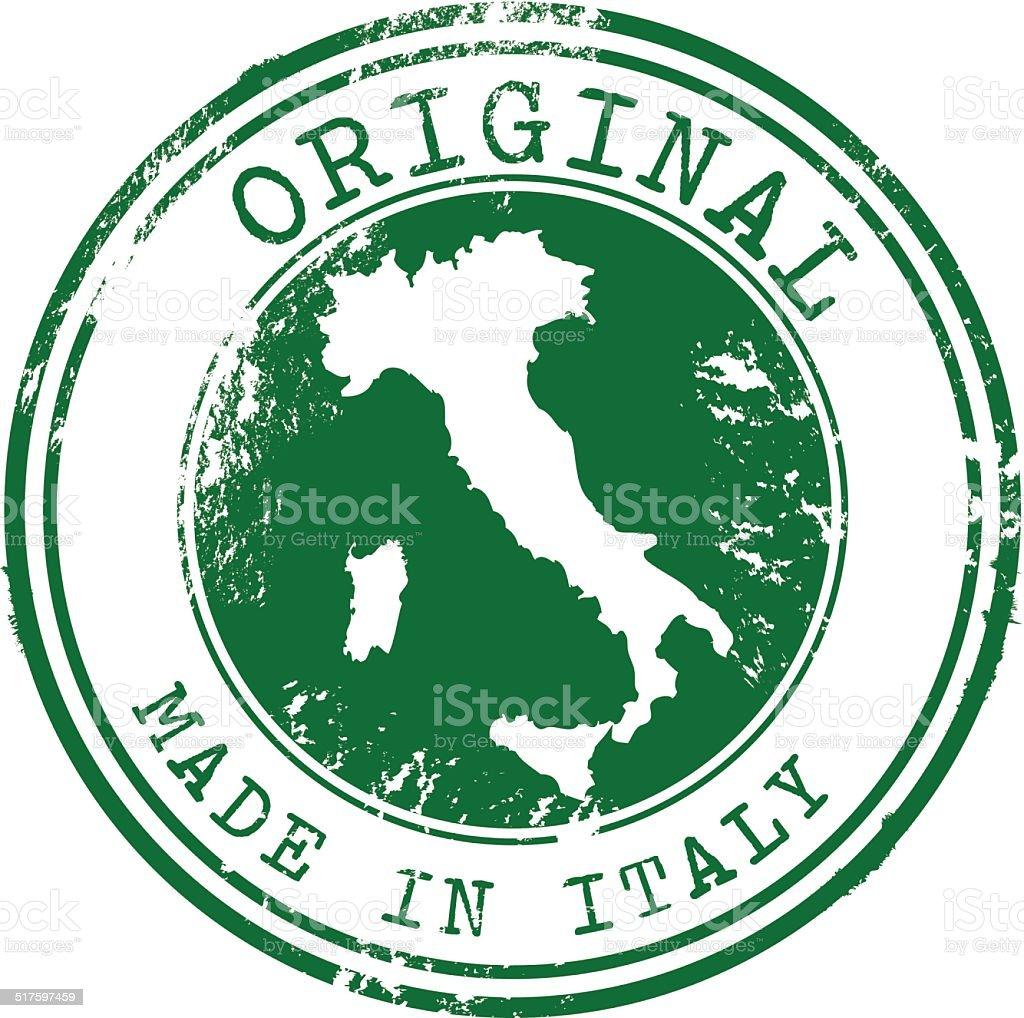 Original Made in Italy Vector Stamp vector art illustration