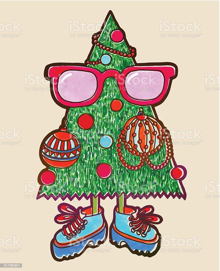 Originalmarkierung Zeichnung Von Animierte Weihnachtsbaum ...
