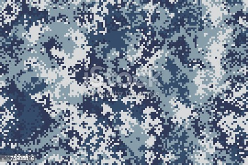 Original pixel seamless marine army camouflage for your design
