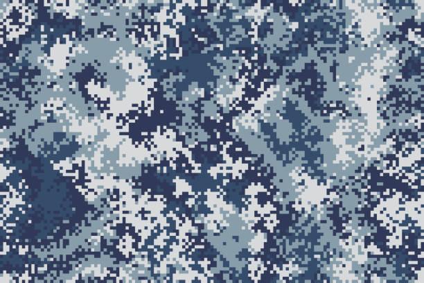 原始圖元無縫海軍陸戰隊偽裝為您的設計 - 偽裝 幅插畫檔、美工圖案、卡通及圖標