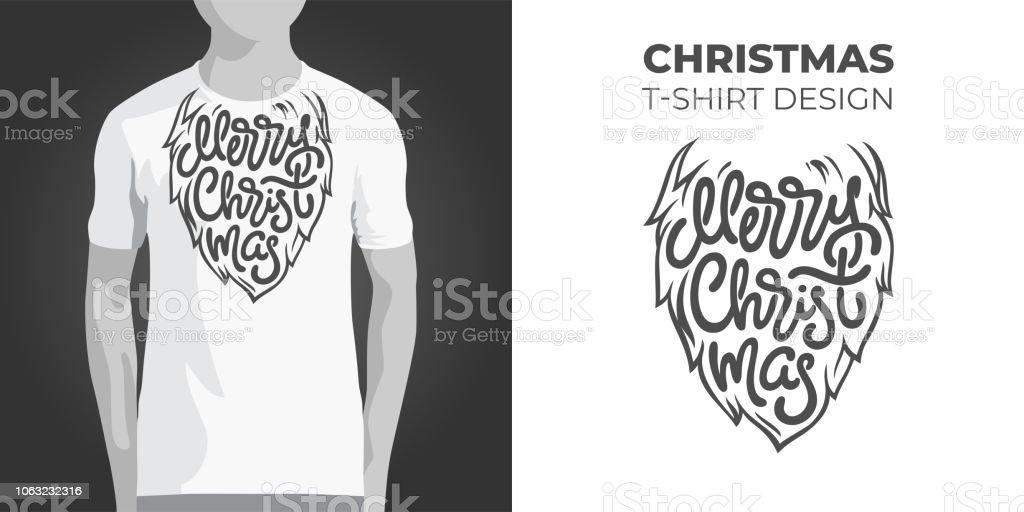 Original Printdesign Für Tshirt Mit Santa Bart Und Frohe Weihnachten ...