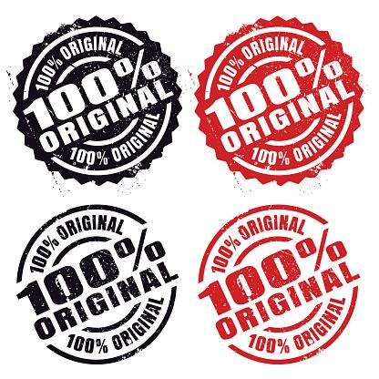 100% Original, rubber stamp