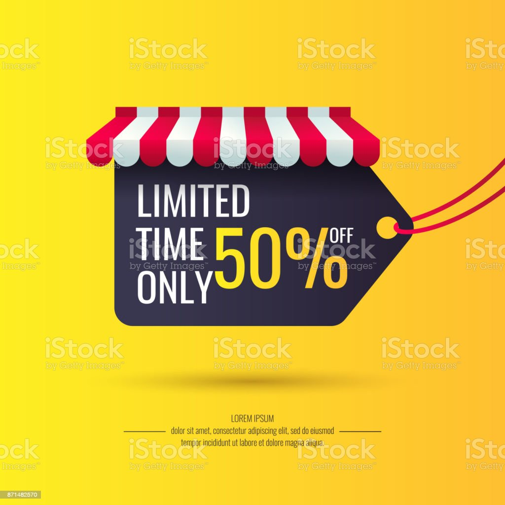 Original sale poster for discount vector art illustration