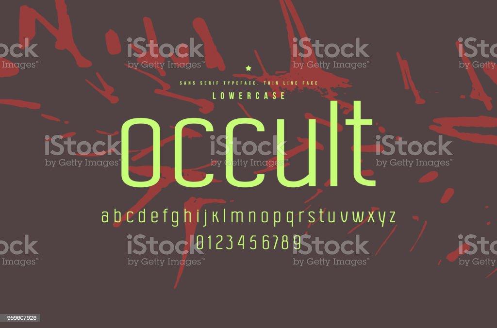 Original fuente sans serif - arte vectorial de Abstracto libre de derechos