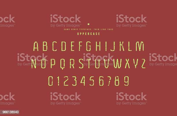 Original Sans Serif Font — стоковая векторная графика и другие изображения на тему Алфавит