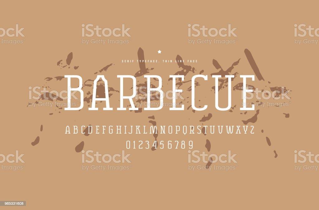 Original serif font. Thin line face original serif font thin line face - stockowe grafiki wektorowe i więcej obrazów alfabet royalty-free