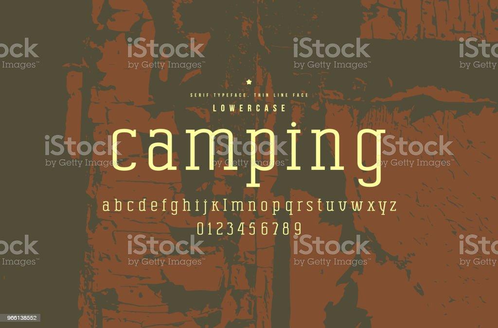 Original serif font. Thin line face - Royalty-free Alphabet stock vector