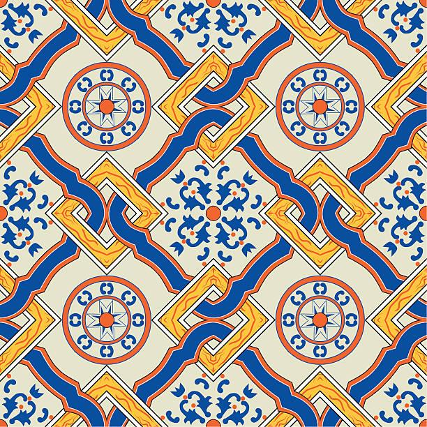 oryginalne sicilian kafelek - sicily stock illustrations
