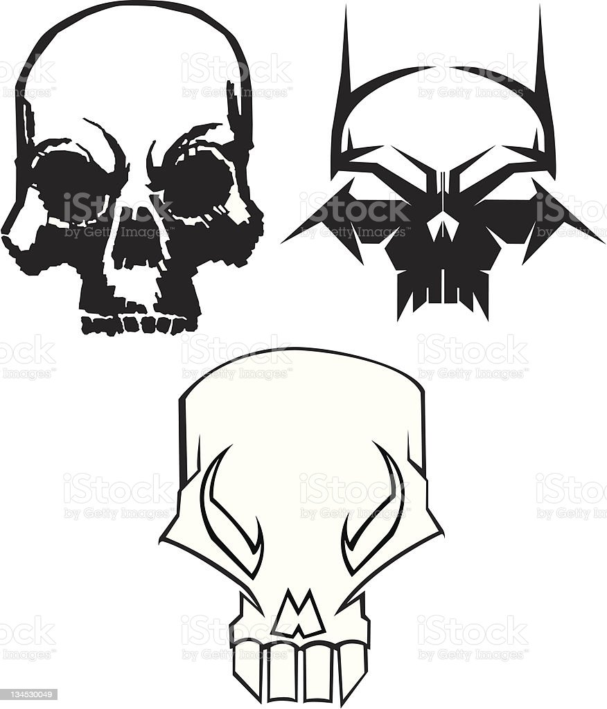 Original Skulls royalty-free stock vector art