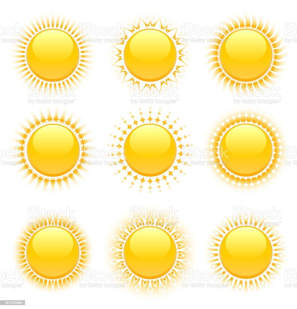 Original Sun Designs royalty-free original sun designs stock vector art & more images of bright