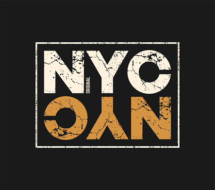 NYC original t-shirt and apparel design with grunge effect.