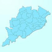Orissa blue map on degraded background vector