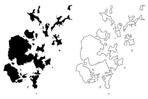 Orkney Islands map vector