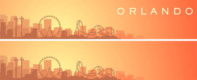 Orlando Beautiful Skyline Scenery Banner