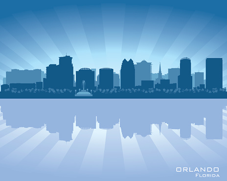 Orlando Florida city skyline silhouette