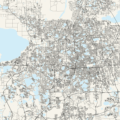 Orlando, Florida Vector Map