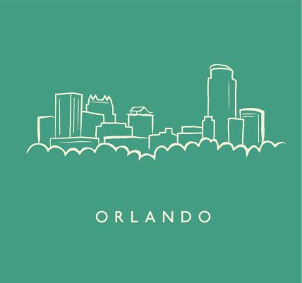 Orlando Skyline Sketch