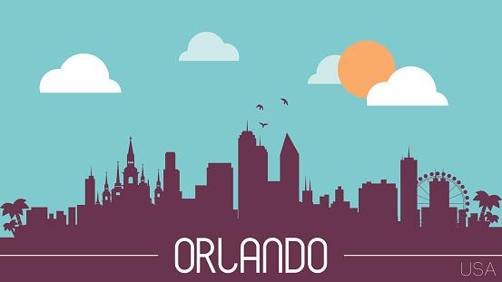 Orlando USA skyline silhouette